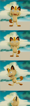 Meowth in Blender ( Animation and Tutlapse Video ) by DoodleNotesPictures