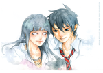 Commission - Rin and Hinata by redsama