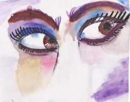 Watercolored Eyes Pratice by amirroredshadow