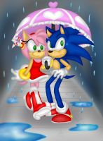 Collab: In The Rain by Angel-Hearted-Being