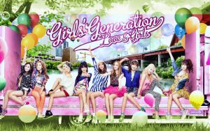 Girls Generation:Love and girls by Jover-Design