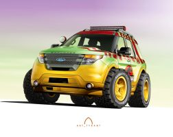 2015 Ford Explorer - Jurassic Park by BreadX