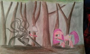 Slenderman VS Pinkamena Diane Pie! by RusticShine