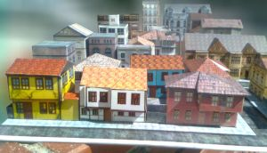 1\100 scale city papercraft by ostabah
