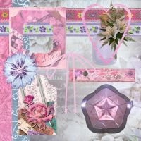 Floral Scrapbooking Kit by DemoncherryStock