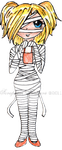 Costumed Cutie: Mummy by SeraphimFeathers