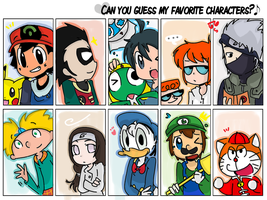 .: can you guess my favorite character ? :. by FnFiNdOART