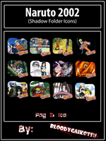 Naruto 2002 Folder Icons (Shadow Template) by BloodyGaikotsu