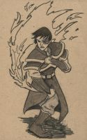 Flaming Zuko by sulanebouxi