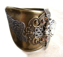 Steampunk Cuff Watch 1 by Aranwen
