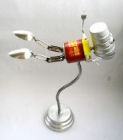 Firomatic - Robot Sculpture by adoptabot