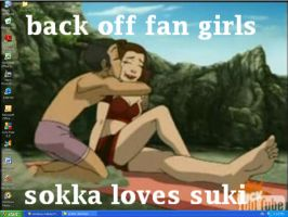 sokka loves suki :D by imigin