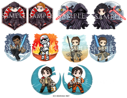 Star Wars TFA Charms by AngelofDeathz