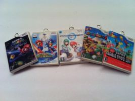 Mario Wii Games Keychain by KatGore