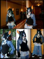 Blue Canine Photo Collage by Magpieb0nes