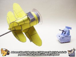 papercraft Advance Wars YC Fighter vs BH Aniti-Air by ninjatoespapercraft
