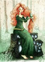 Merida and brothers by crisquinu