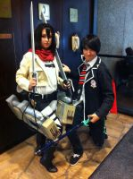 Mikasa and Rin(Mechacon 2013) by Hound-02