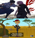 Junior's reaction to SasuSaku by Harmony-Borealis