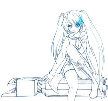 Black Rock Shooter Blue Lines by Kari--Koboyashi