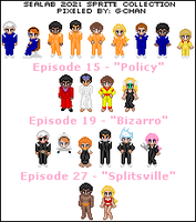 Sealab 2021 Sprite Collection by splendidpixels