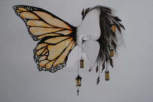 Monarch Lantern Butterfly mask 2012 by RoseThief17