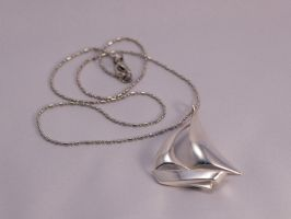 Sailboat pendant in sterling silver by roofoo