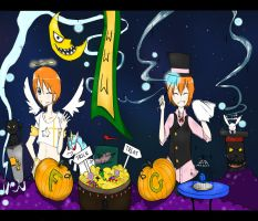Fred and George Halloween by Feiring