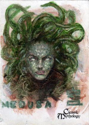 Medusa Sketch Card - BARD!