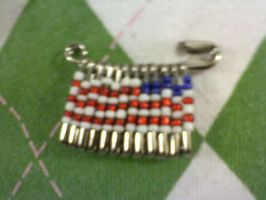 American Flag Pin by EllasDesigns