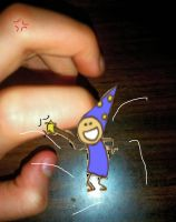 A Wizard Is Hitting My Finger by kknkbaker