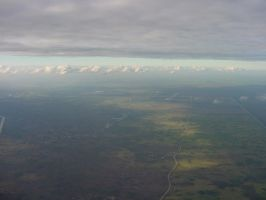 Airplane View Landscape Clouds by Enchantedgal-Stock