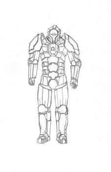 OMEGA Cerebral Cybernetic Armour By Vindicavi by Sam-Mccloud
