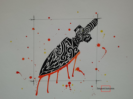 Tribal Watercolor Arrowhead [Youtube Speed Draw] by ImportAutumn