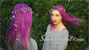Sakura Waterfall Crown by vani