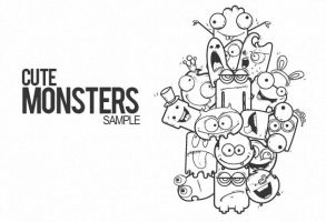 Cute monsters  free samples by T3hSpoon