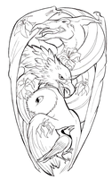 Pterobirds Tattoo Design by uglynoodles