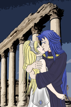 Stolen Kiss (commission Saga/Katya Saintia Sho) by PelagieChildie