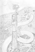 Persephone myth sketch by Tombstonedust