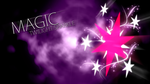 Twilight Sparkle Magic Cutie Mark Wallpaper by BlueDragonHans
