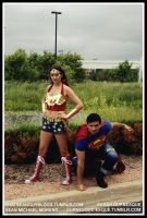 Street Wonder Woman and Action Comics Superman by Durnesque