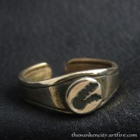 The Twin Tailed Comet bronze ring by Sulislaw