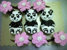 Panda Cupcakes by TheForest