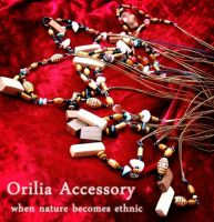 wooden beads necklace ethnic by aurilianalence