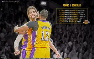 Lakers Round 1 Schedule Wallpaper by lisong24kobe