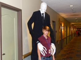 Justin Bieber and Slenderman by EndOfGreatness