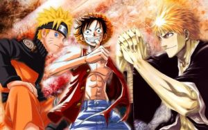 bleach vs one piece and naruto by christopher7111994