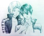 NyanCon Commission #7 - Rin x Haru from Free! by SomedaySakuhin