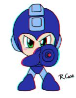 3D Mega Man test by rongs1234