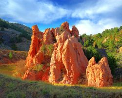 Red cathedral rock basin by greenunderground